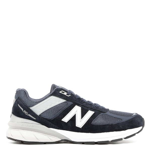 Navy 990 V5 Suede And Mesh Sneakers
