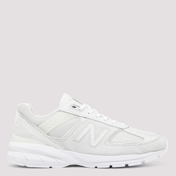 White 990 V5 Suede And Mesh...