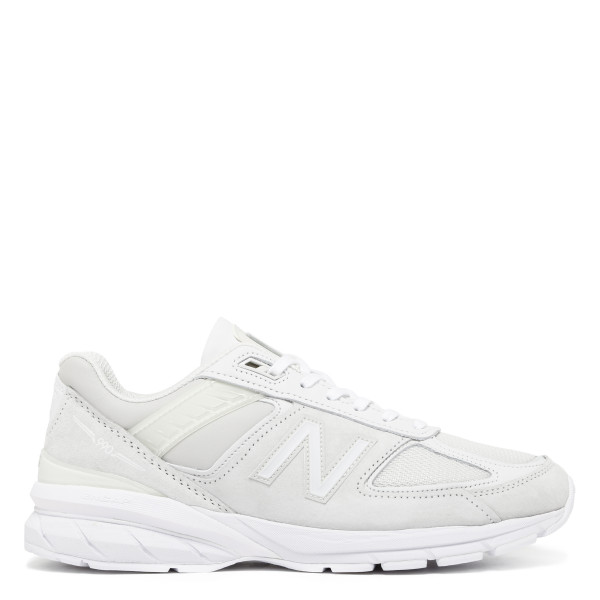 White 990 V5 Suede And Mesh Sneakers