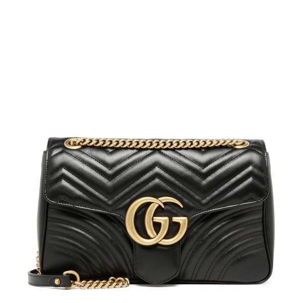 Black GG Marmont shoulder bag