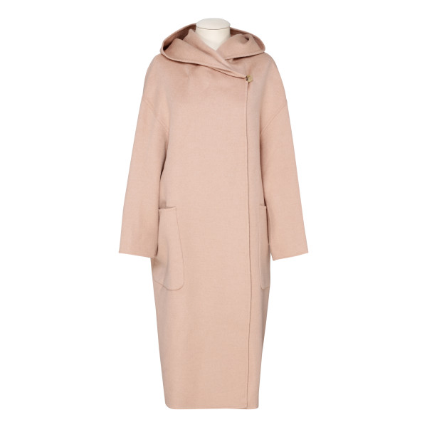 Pucci powder pink camel wool coat
