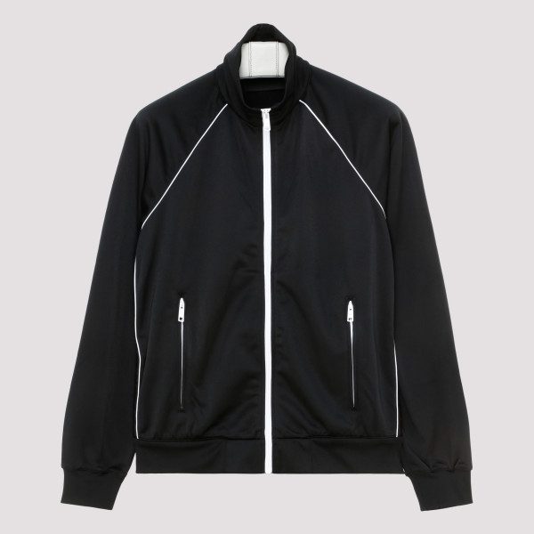 Black zipped blouson jacket