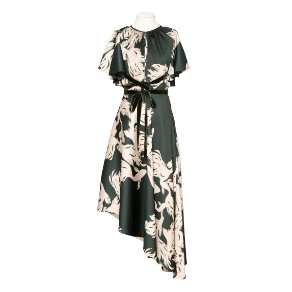 El Despertar De La Esencia Printed Georgette Maxi Dress