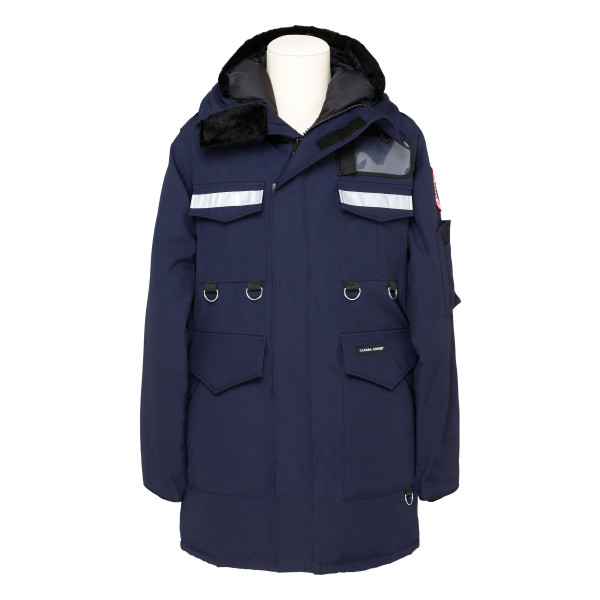 Navy hooded down jacket