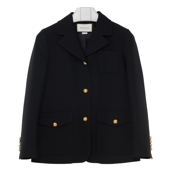 Marmont silk and wool cady crepe coat