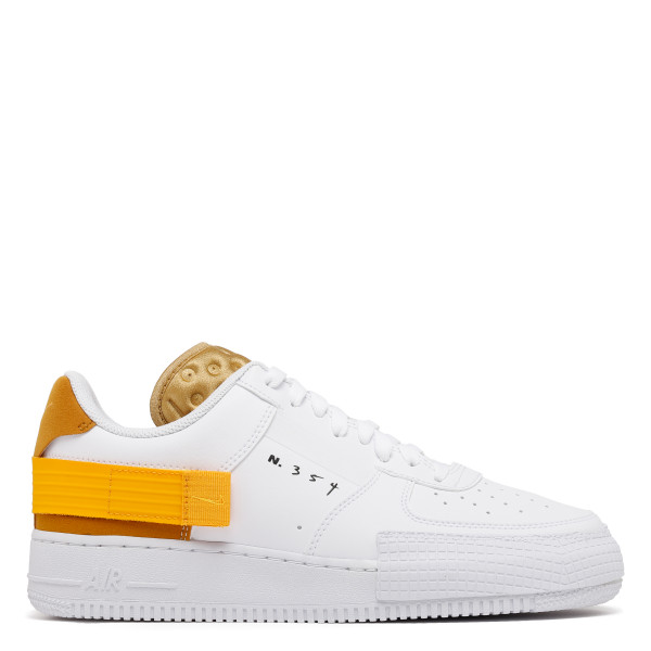 White and yellow AF1-Type Sneakers