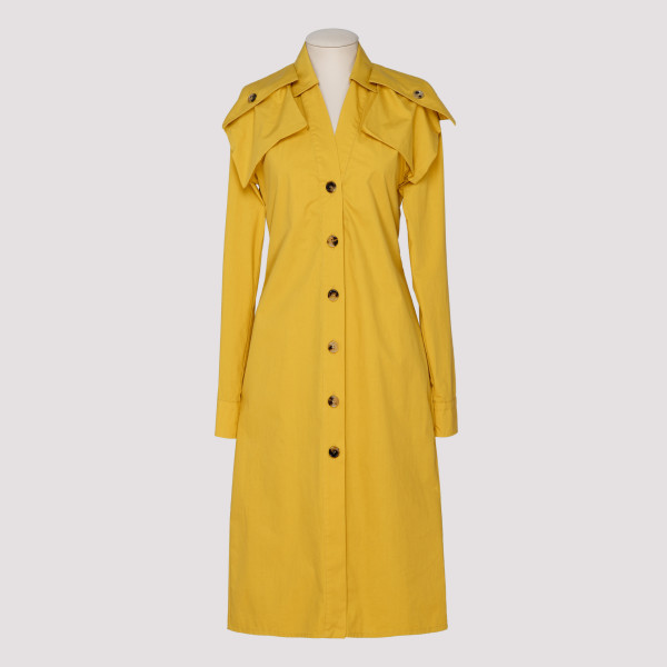 Yellow popeline dress