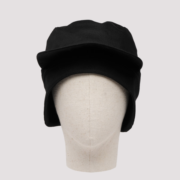 Black Gabardine workwear cap