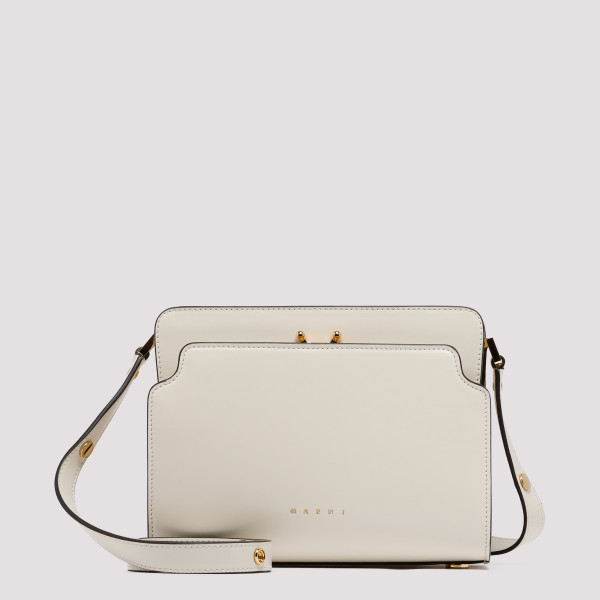 White leather Trunk bag