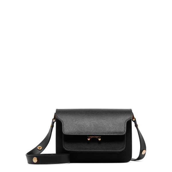 Small Black leather Trunk bag
