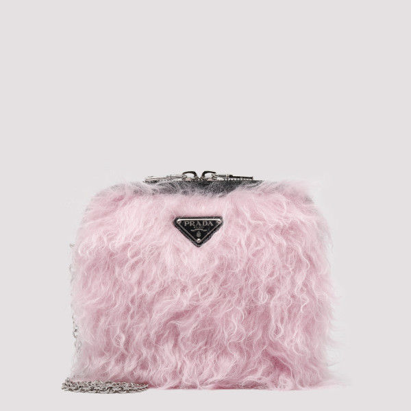 Pink Furry mini bag