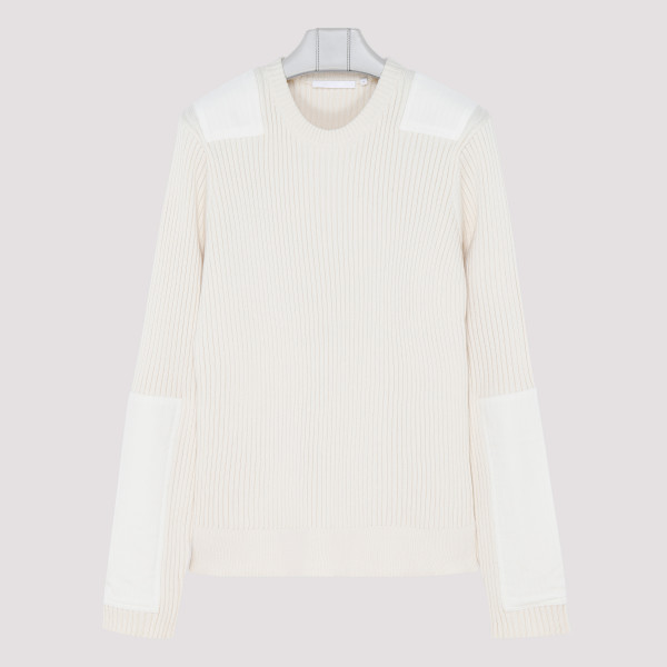 White Patch crewneck sweater