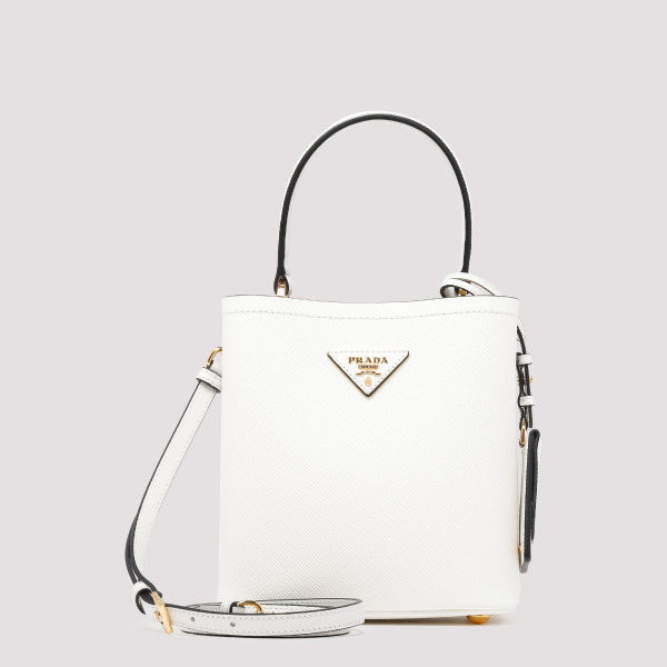 White leather Panier bag