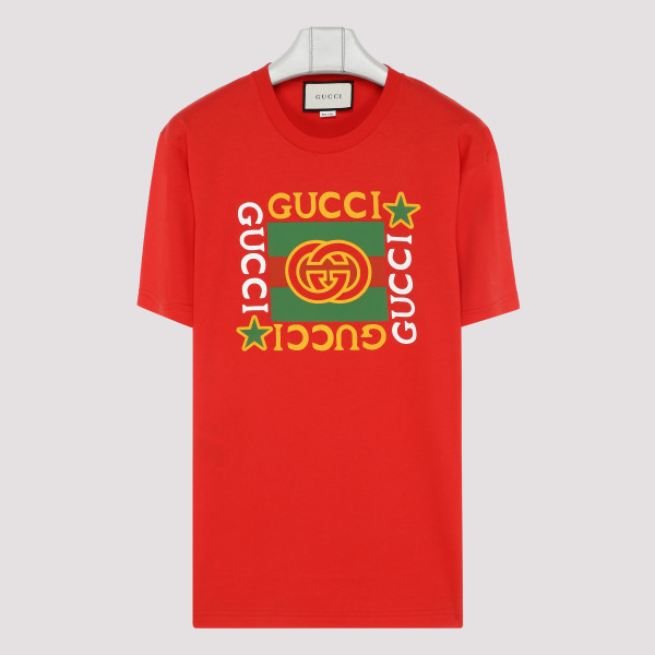Red cotton T-shirt with...