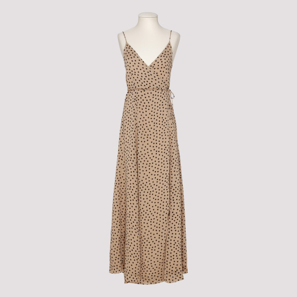 Polka dots georgette dress