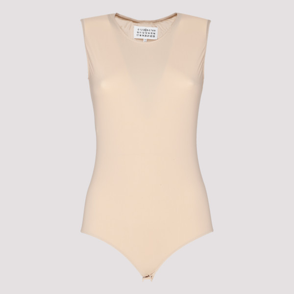 Beige stretch bodysuit