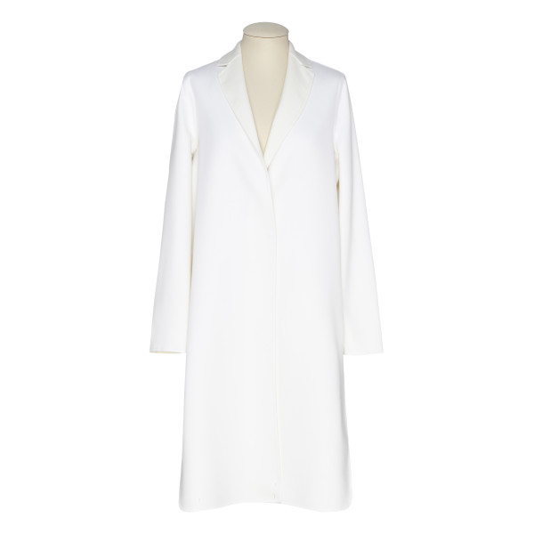 White virgin wool coat