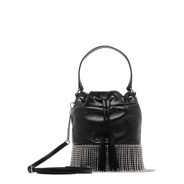 Black leather bucked bag
