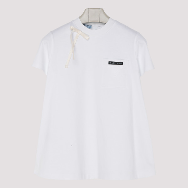 White Bow Detail Logo T-Shirt