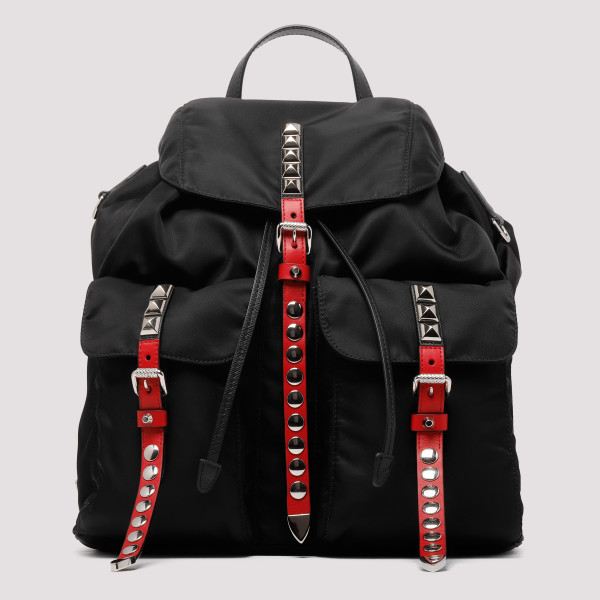 Stud Black Nylon backpack