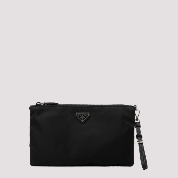 Black zipped pouch