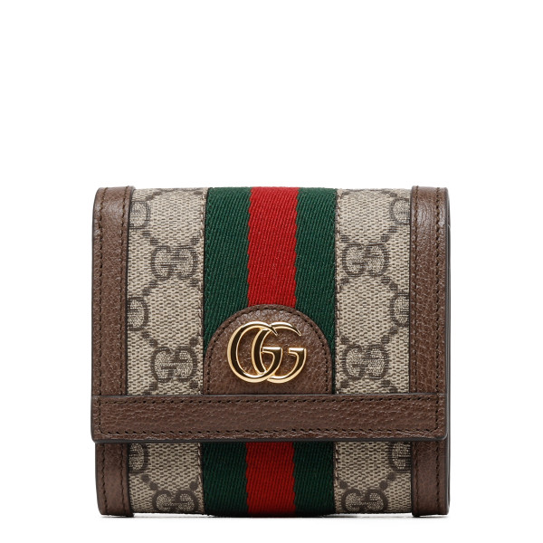 Ophidia GG french flap wallet