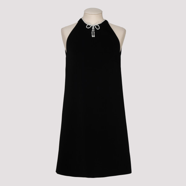 Black faille cady dress