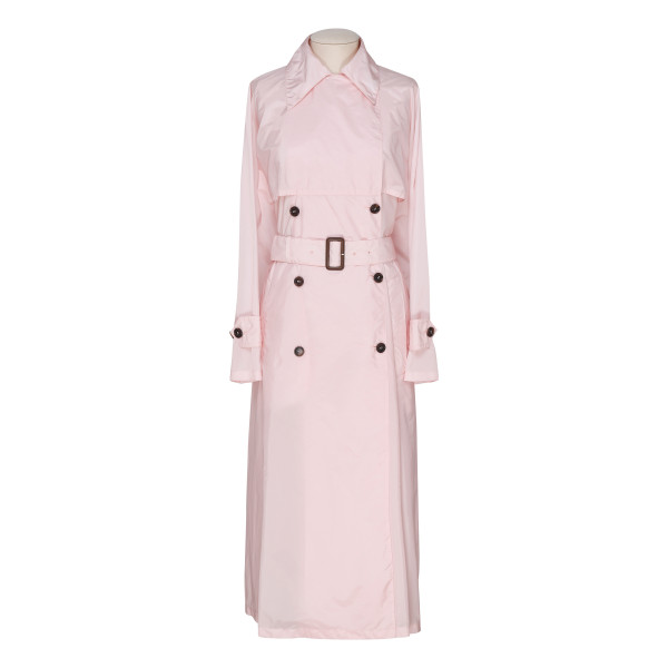 Pink nylon trench coat
