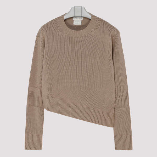 Brown asymmetric sweater