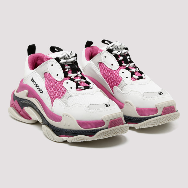 Triple S white and pink sneakers