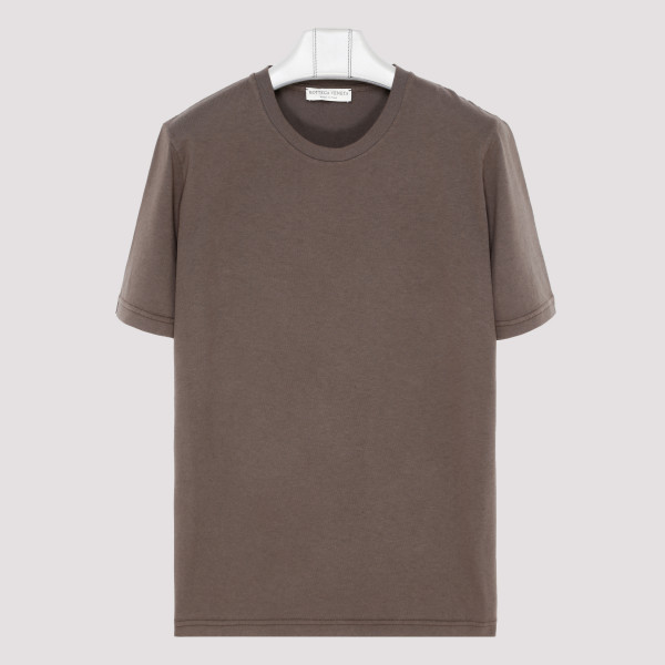 Taupe T-shirt with logo