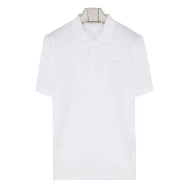 White cotton polo T-shirt