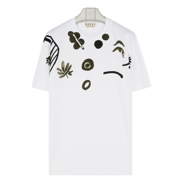 Placed print cotton T-shirt