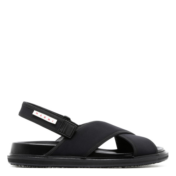 Black criss cross sandals