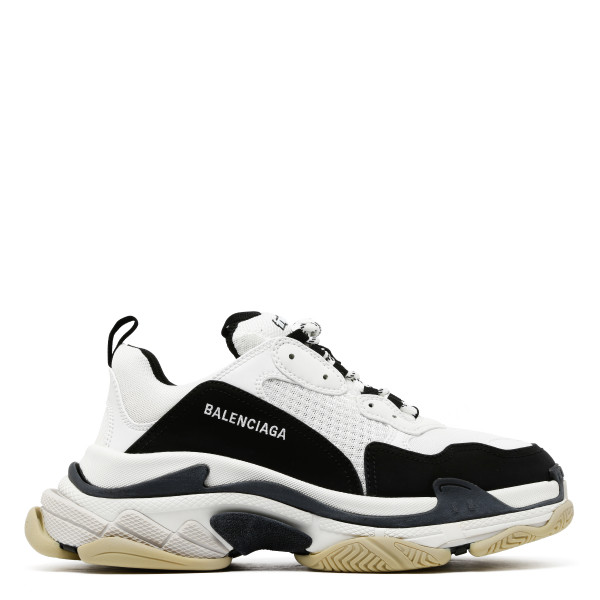 Triple S white and black sneakers