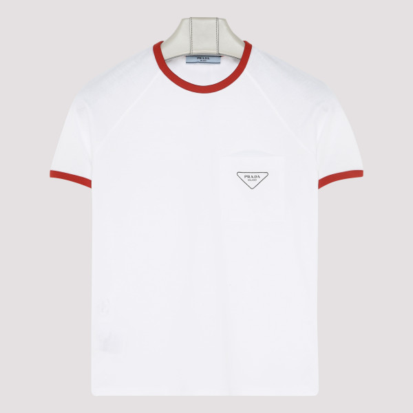 White and red T-shirt