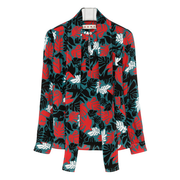 Multicolor graphic print shirt