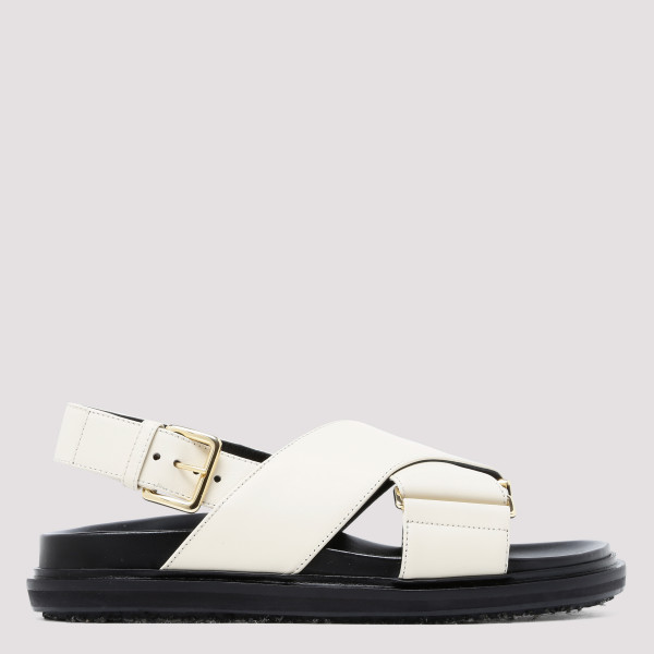Fussbett white leather sandals