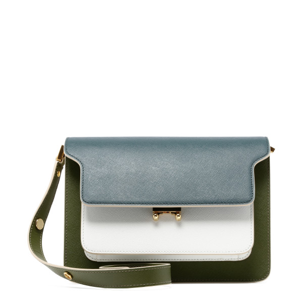 Trunk saffiano shoulder bag