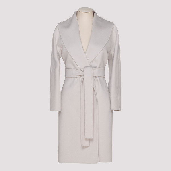 Messy ivory virgin wool coat