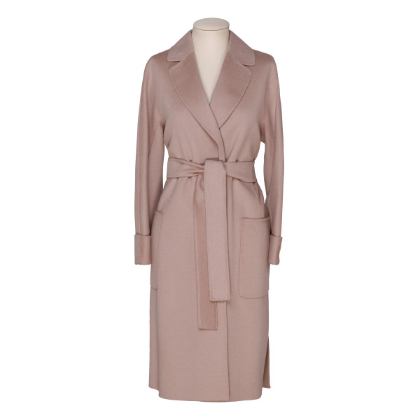 Tangeri dusty pink wool-blend coat