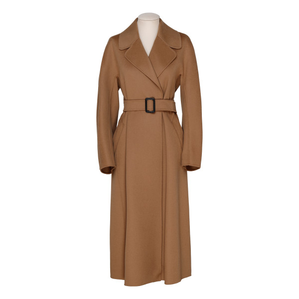 Reus brown virgin wool coat