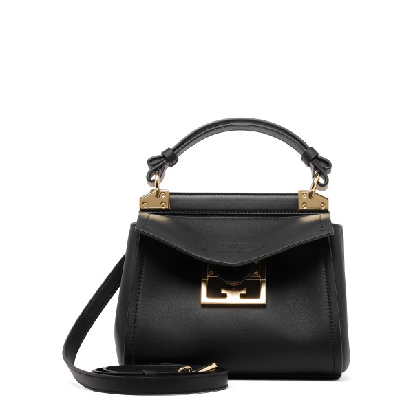 Black Mini Mystic bag in soft leather