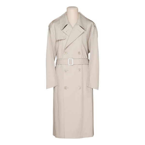 Beige cotton-blend trench coat
