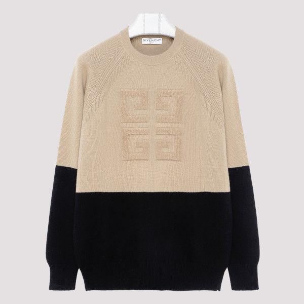 Two tone sweater in cashmere