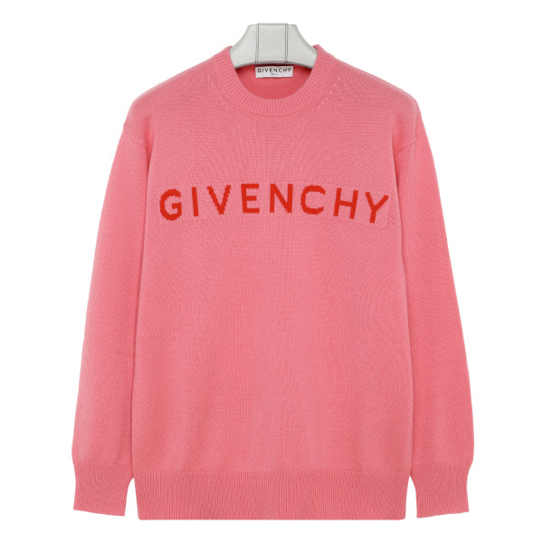 Pink sweater with logo