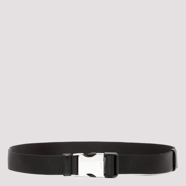 Black fabric belt