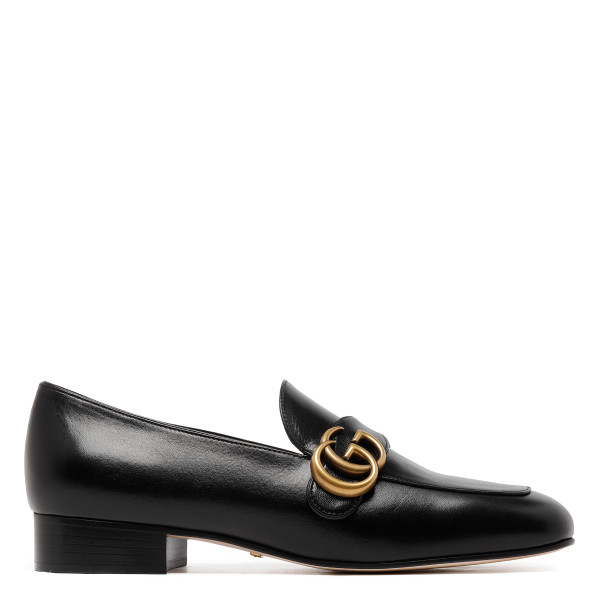 Double G black loafers