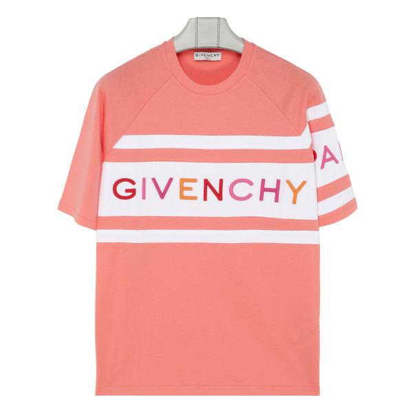 Embroidered logo pink T-shirt