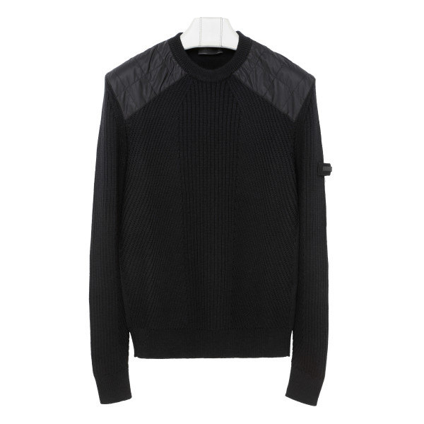 Black wool sweater